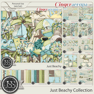 Just Beachy Digital Scrapbooking Collection