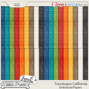 Travelogue California - Embossed Papers Pack