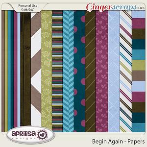 Begin Again - Papers by Aprilisa Designs