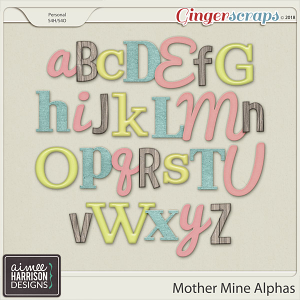 Mother Mine Alpha Sets by Aimee Harrison