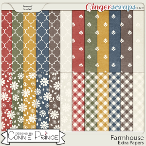 Farmhouse - Extra Papers by Connie Prince