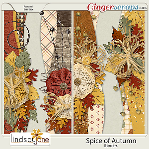 Spice of Autumn Borders by Lindsay Jane