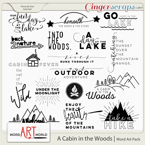 A Cabin in the Woods Word Art