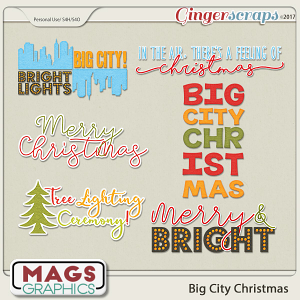 Big City Christmas WORD ART by MagsGraphics