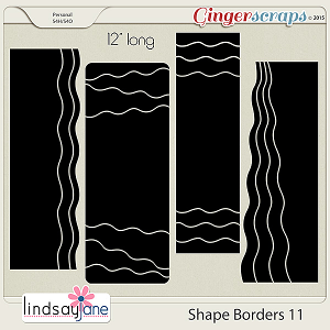 Shape Borders 11 by Lindsay Jane