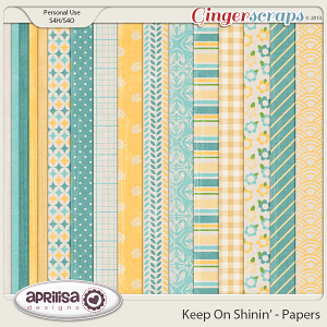 Keep On Shinin' Papers by Aprilisa Designs