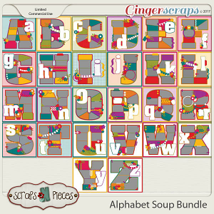 Alphabet Soup Template Bundle