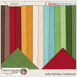 Jolly Holiday Cardstock by Trixie Scraps Designs