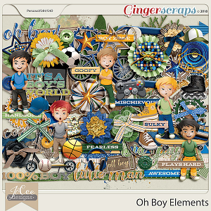 Oh Boy Elements by JoCee Designs