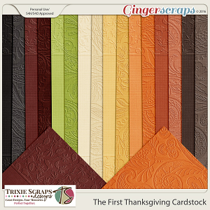 The First Thanksgiving Cardstock by Trixie Scraps Designs
