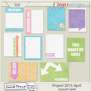 Project 2013: April - Journal Cards