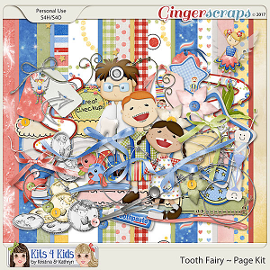 Tooth Fairy Page Kit by K4K