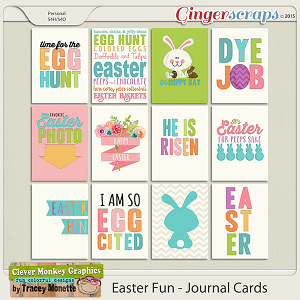 Easter Fun Journal Cards by Clever Monkey Graphics