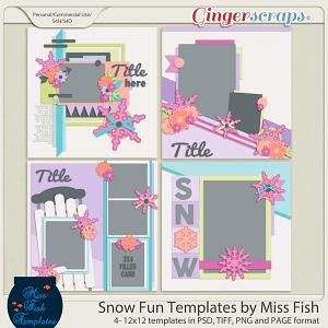 Snow Fun Templates