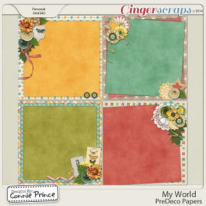My World - PreDeco Papers