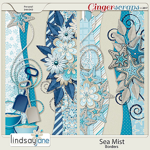 Sea Mist Borders by Lindsay Jane