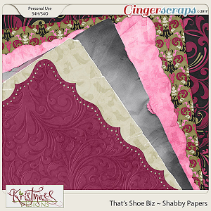 That's Shoe Biz Shabby Papers