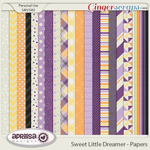 Sweet Little Dreamer - Papers by Aprilisa Designs