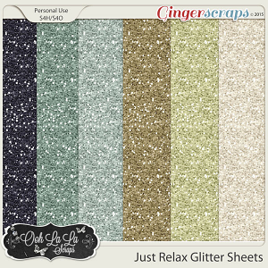 Just Relax Glitter Sheets