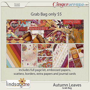 Autumn Leaves Grab Bag by Lindsay Jane