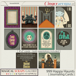 999 Happy Haunts (journaling cards)