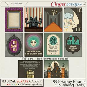 999 Happy Haunts (journaling cards)