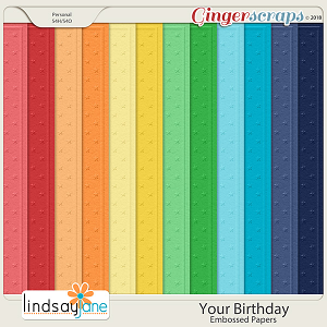 Your Birthday Embossed Papers by Lindsay Jane