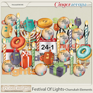 Festival Of Lights Chanukah Elements