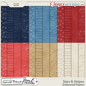 Stars & Stripes - Embossed Papers