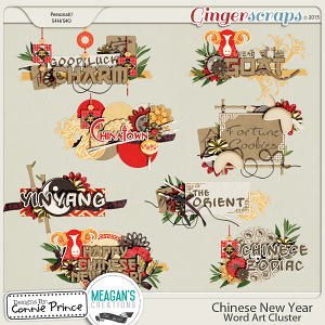 Chinese New Year - Word Art