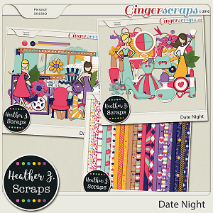 Date Night KIT by Heather Z Scraps