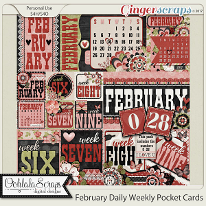 February Daily and Weekly Pocket Cards Bundle