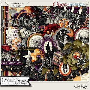 Creepy Digital Scrapbooking Kit