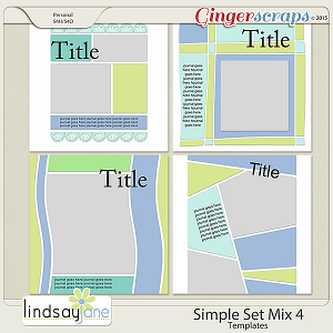Simple Set Mix 4 Templates by Lindsay Jane