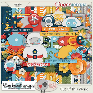 Out Of This World Collab by Luv Ewe Designs and Blue Heart Scraps