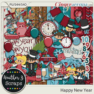 Happy New Year KIT by Heather Z Scraps