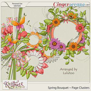 Spring Bouquet Page Clusters