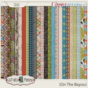 On the Bayou Papers by Scraps N Pieces