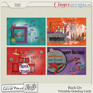 Rock On - Printable Greeting Cards
