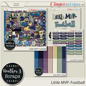 Little MVP: Football BUNDLE by Heather Z Scraps