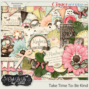 Take Time To Be Kind Digital Scrapbooking Kit