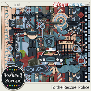 To the Rescue: Police KIT by Heather Z Scraps