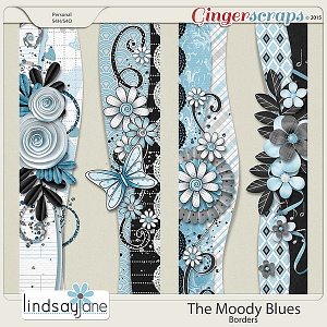The Moody Blues Borders by Lindsay Jane