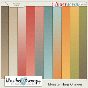 Monster Hugs Ombre Paper Pack