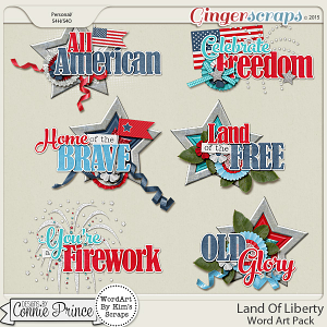 Land Of Liberty - WordArt Pack