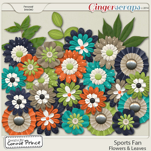 Sports Fan - Flowers & Leaves