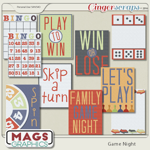 Game Night JOURNAL CARDS