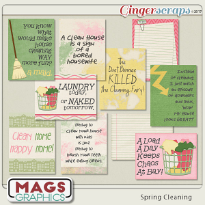 Spring Cleaning JOURNAL CARDS by MagsGraphics