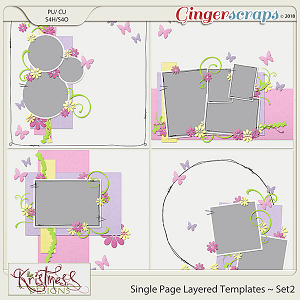 Single Page Layered Templates ~ Set2