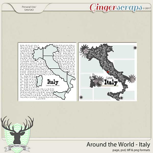 Around the World Countries: Italy Templates by Dear Friends Designs